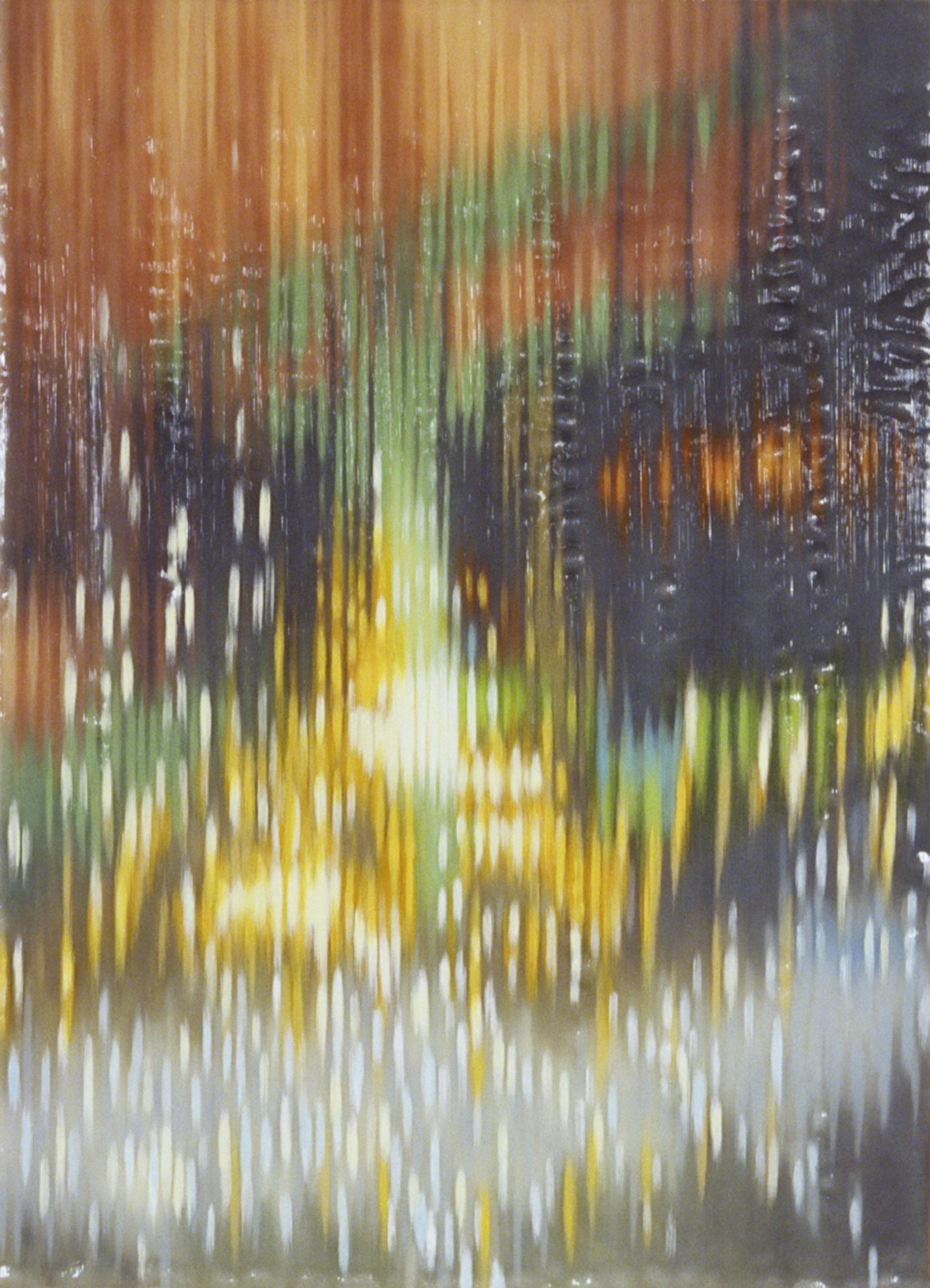 Night Fountain III 2007 acrylic on board 36x26in