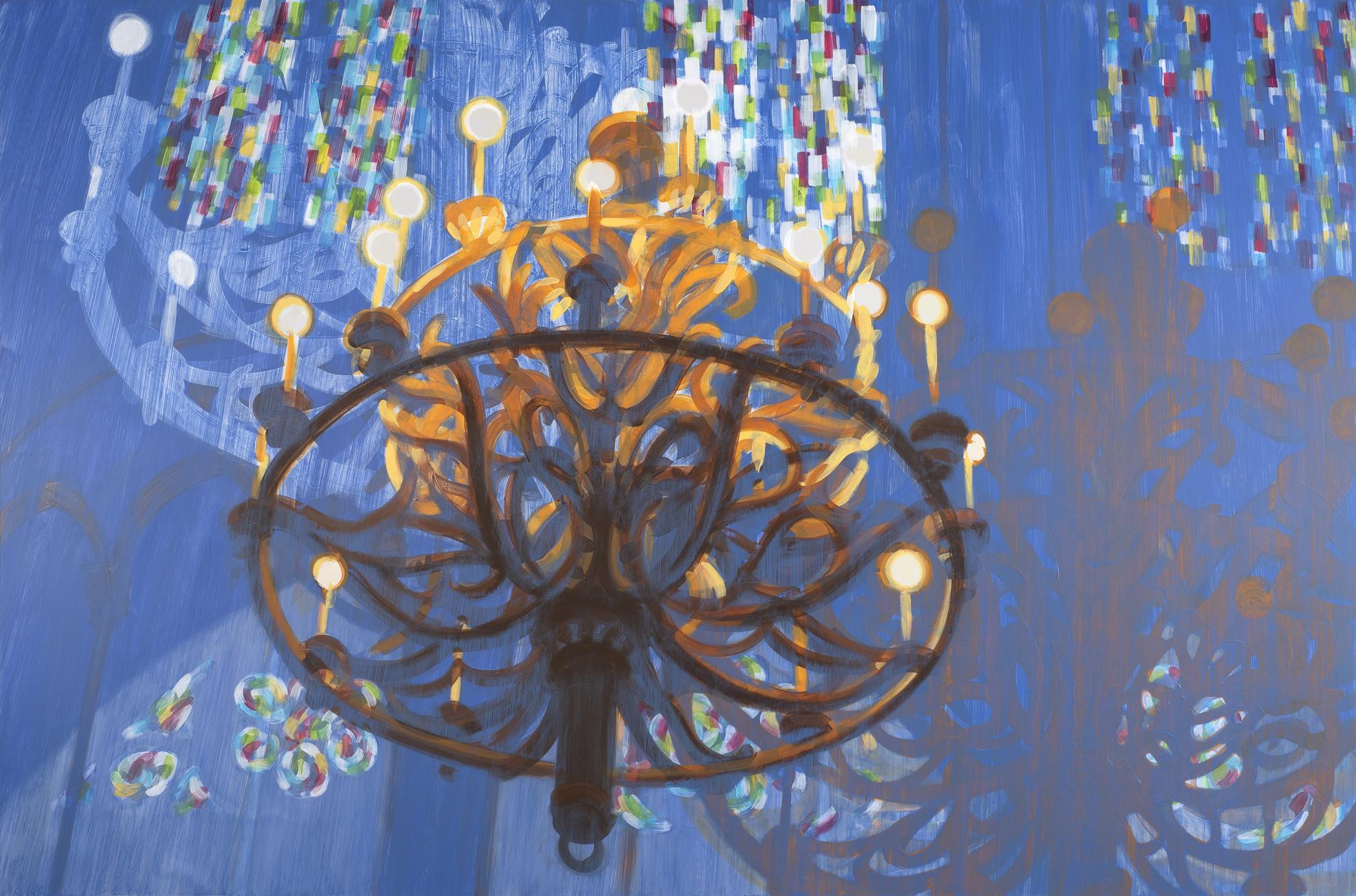 Notre Dame Paris 2019 acrylic on ACM 40x60in