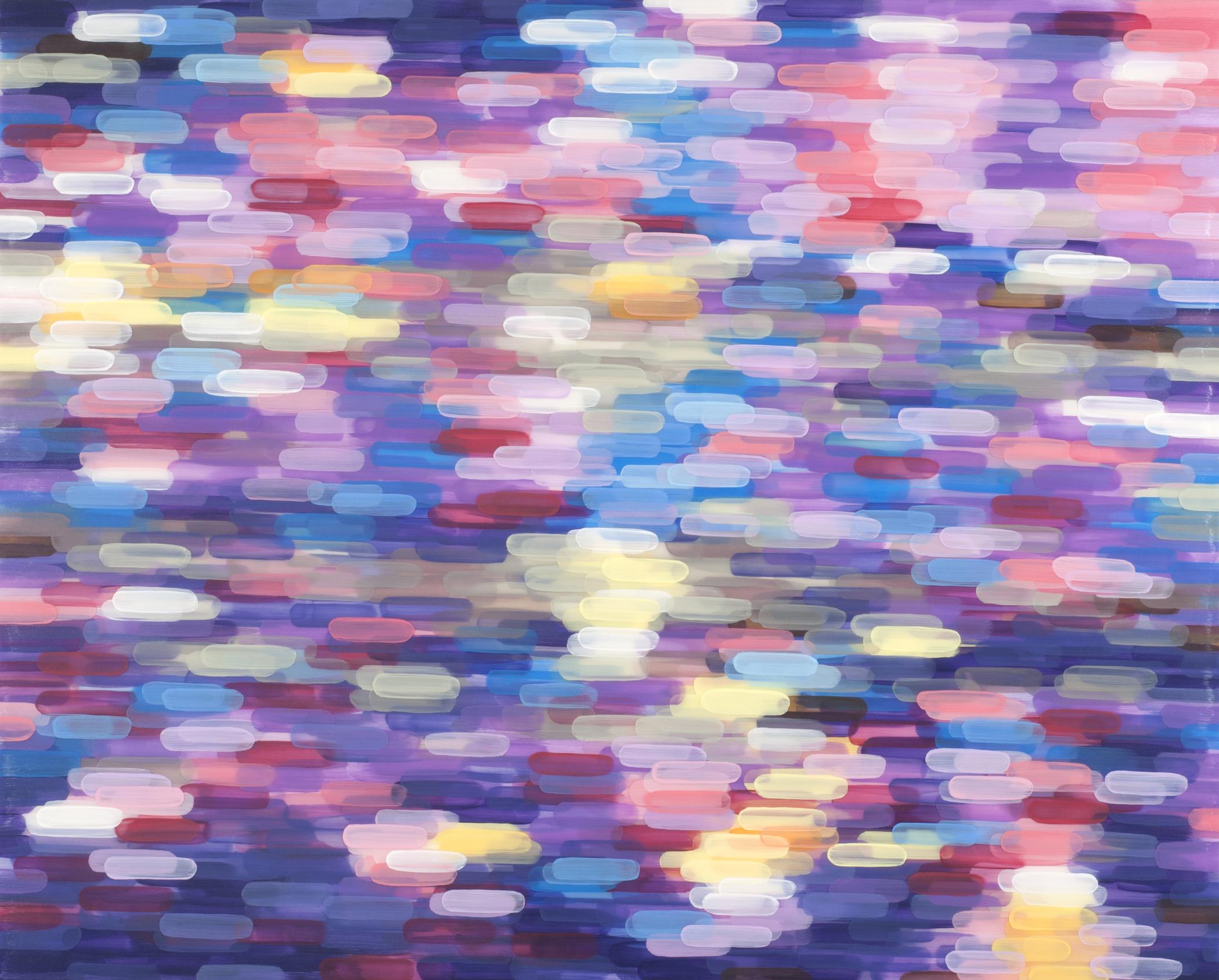 Purple Light Blue Light 2009 acrylic on board 36x45in