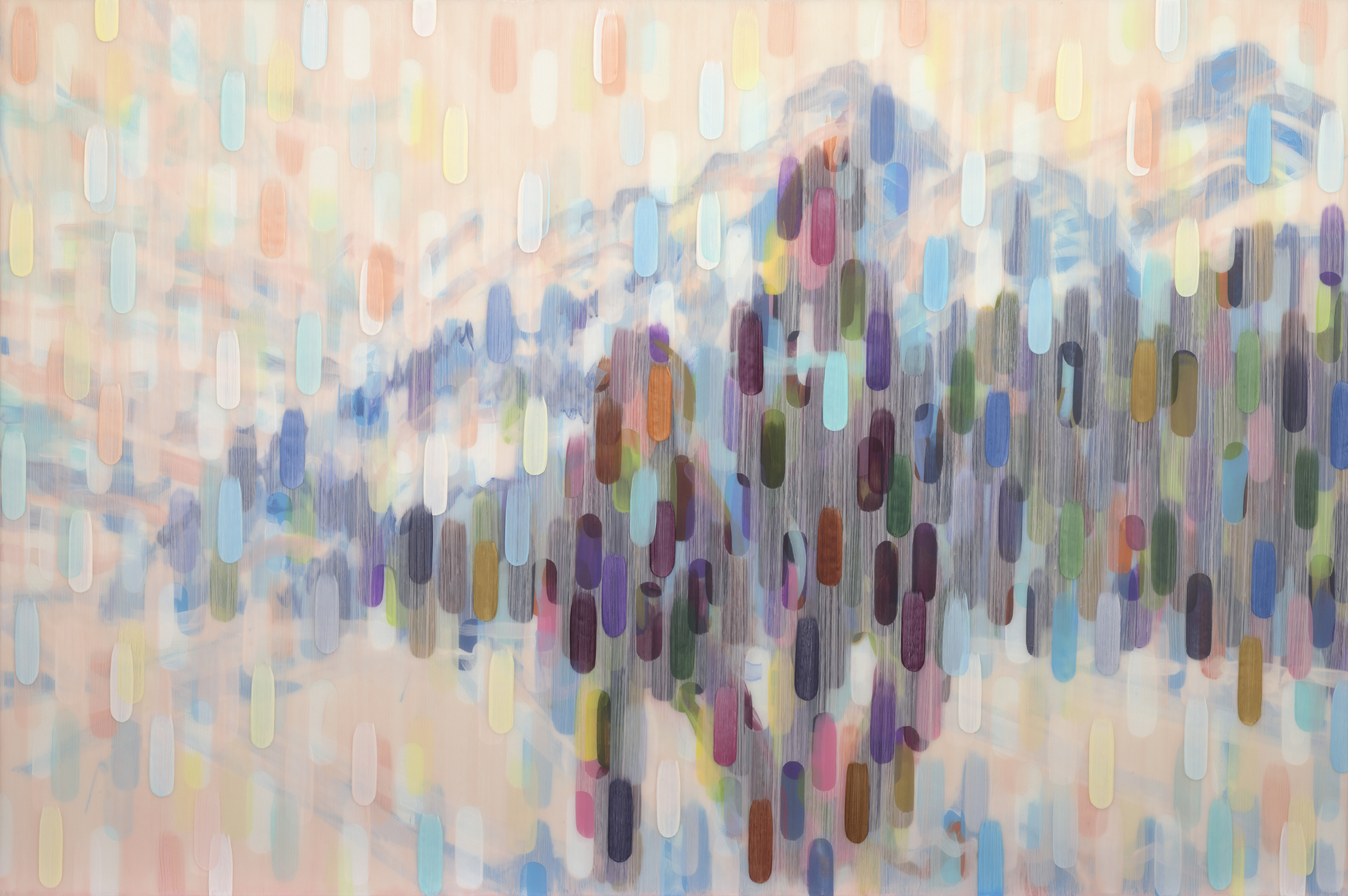 Lake Louise 2016 acrylic on canvas on board 40x60in