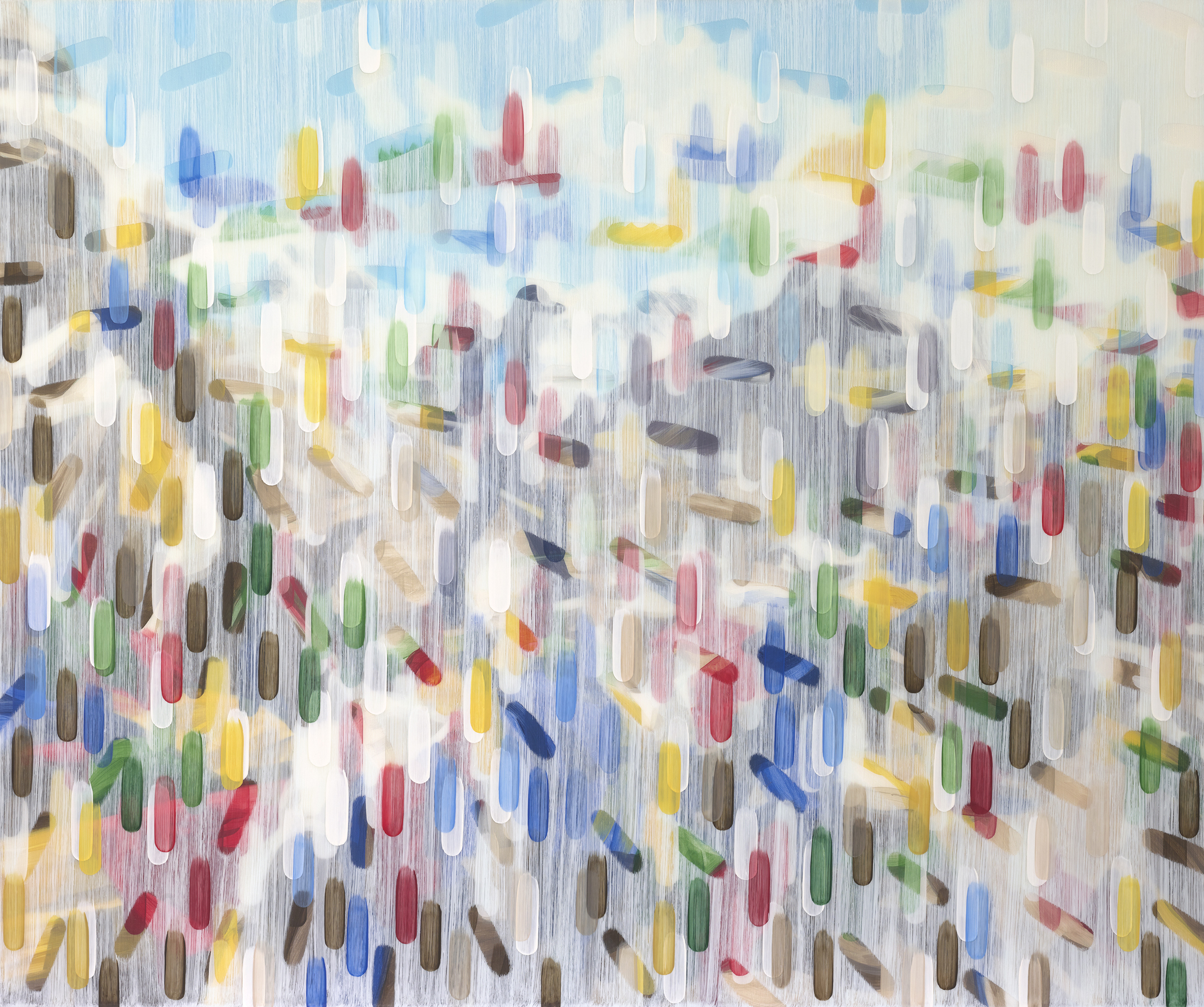 Prayer Flags 2017 acrylic on canvas on board 50x60in