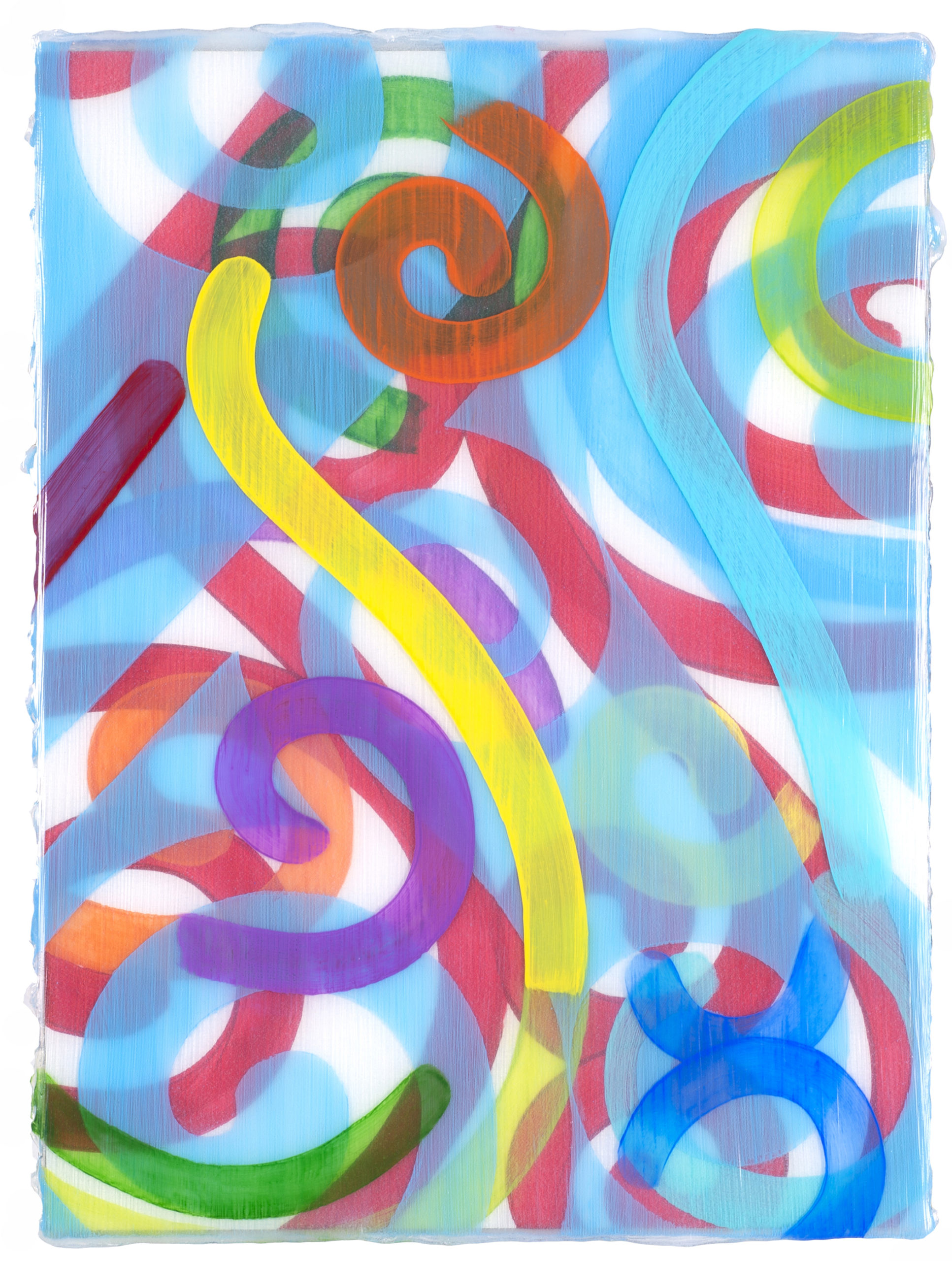 Shea's Victoria XII study (railings) 2020 acrylic on board 14x11in by Contemporary Canadian Artist Katharine Harvey