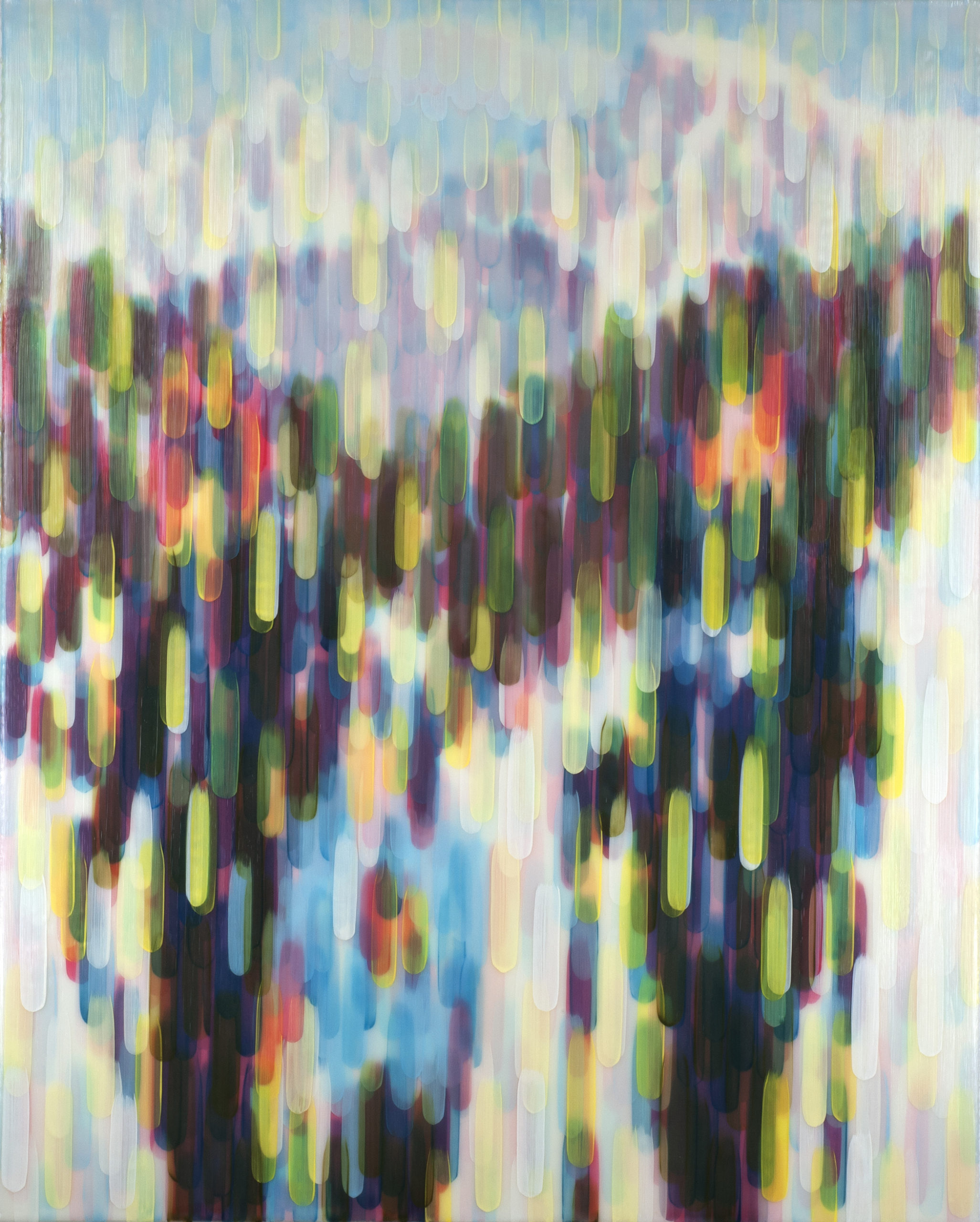 Sunshine Yellow 2014 acrylic on canvas on board 50x40in