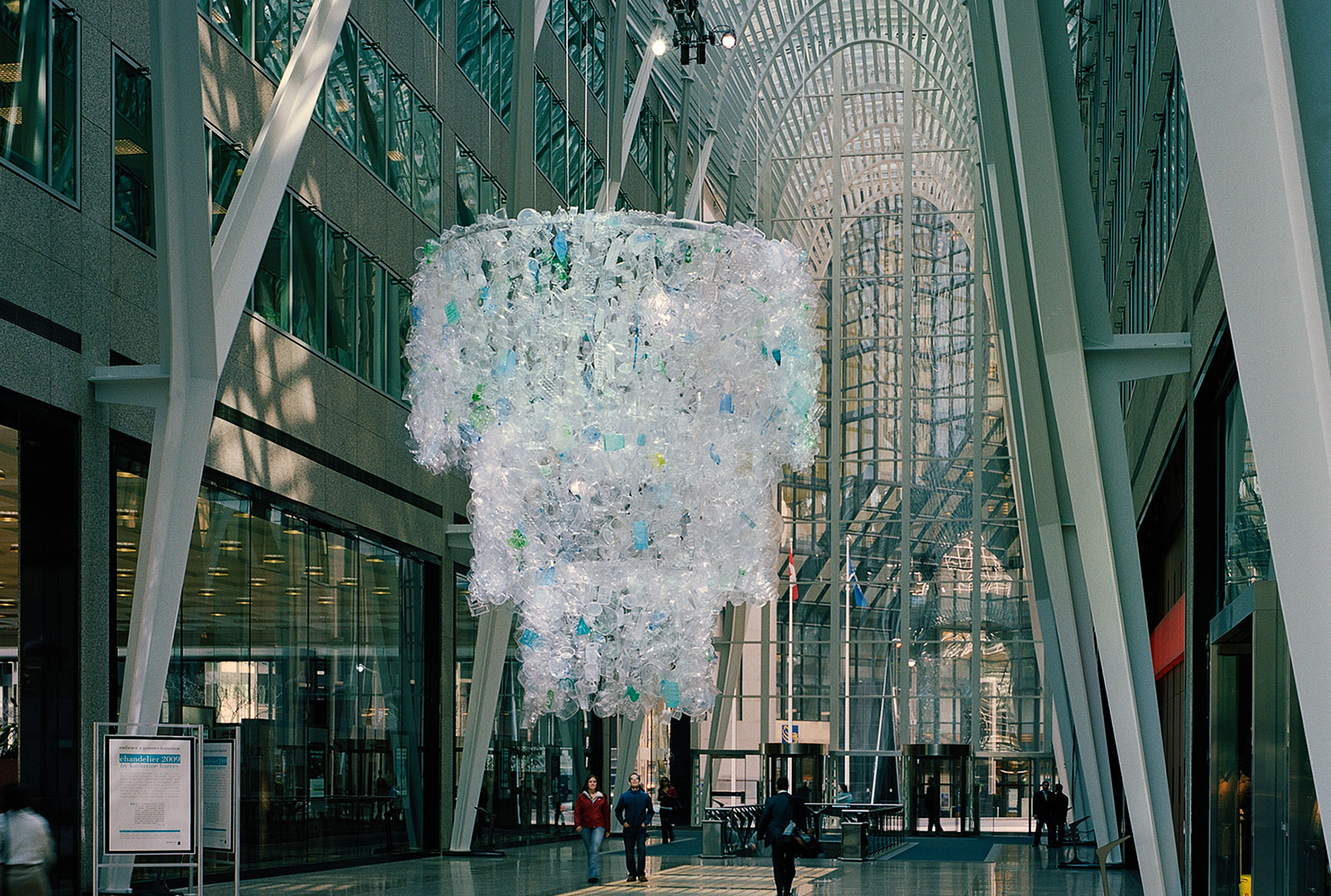 Image of Chandalier, an toronto art installation , hanging in