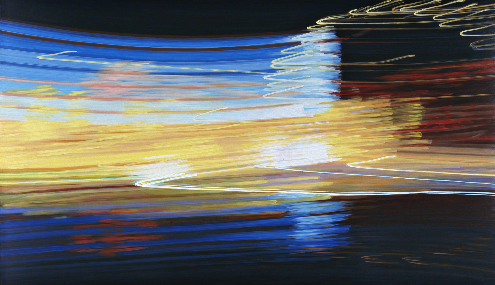 Midway VI 2009 acrylic on board 46x82in by Contemporary Canadian Artist Katharine Harvey