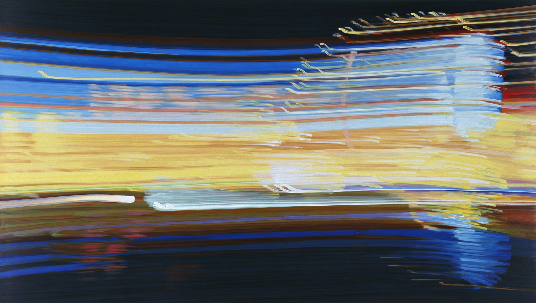 MidwayVII 2009 acrylic on board 46x82in by Contemporary Canadian Artist Katharine Harvey