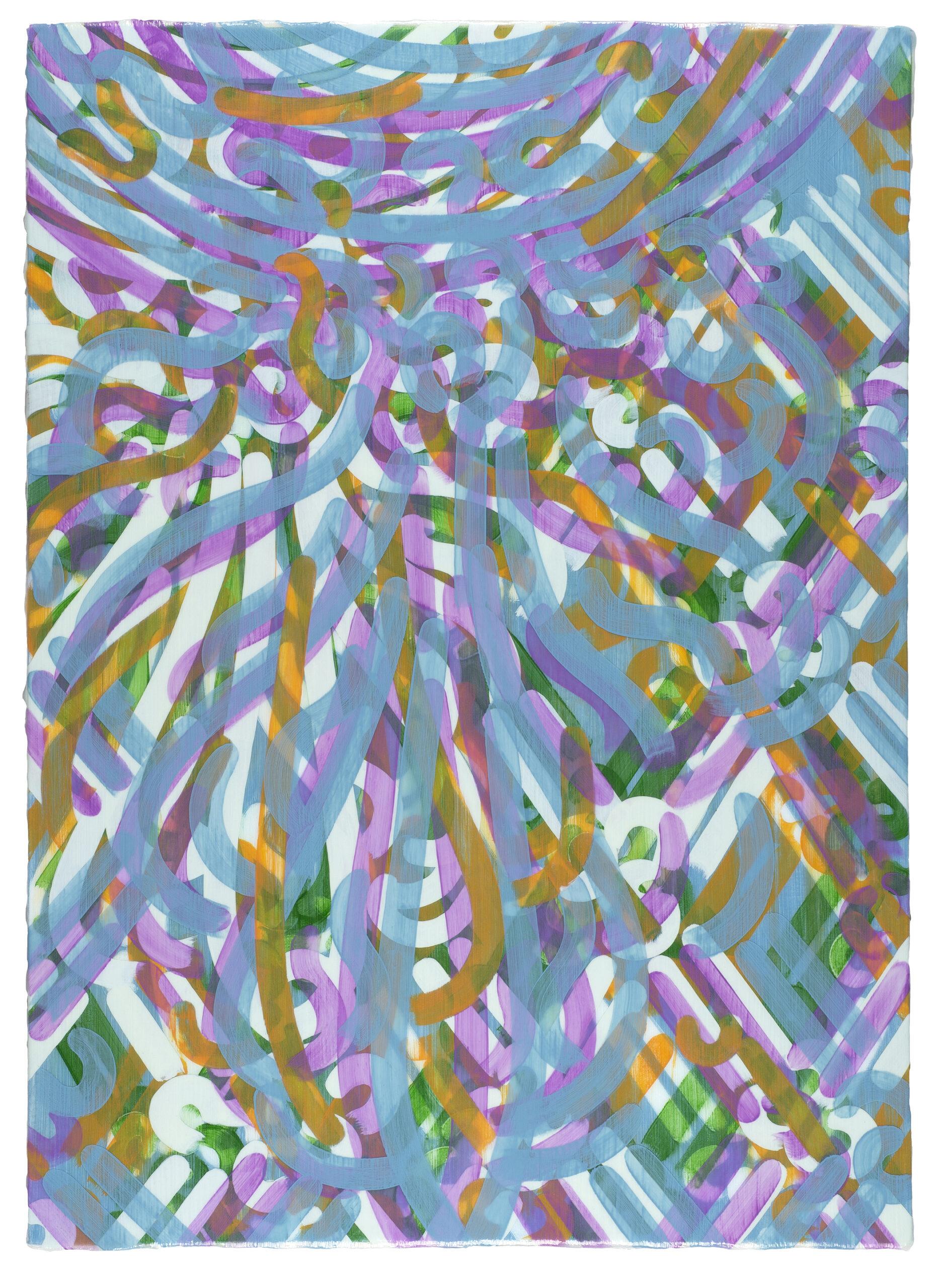 Blueprint I 2020 acrylic on canvas on board 36x26in