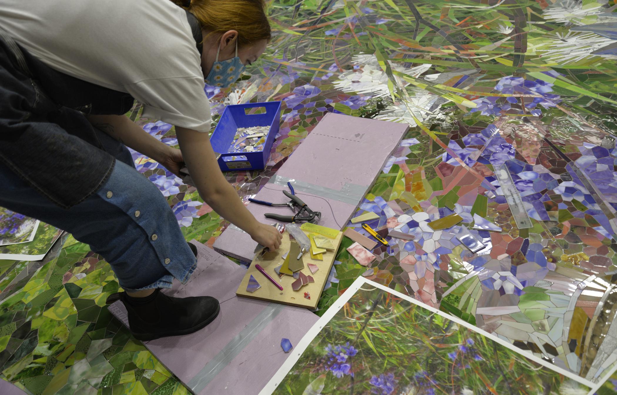 Milkweed Verbena in Mosaika studio Sept 2020