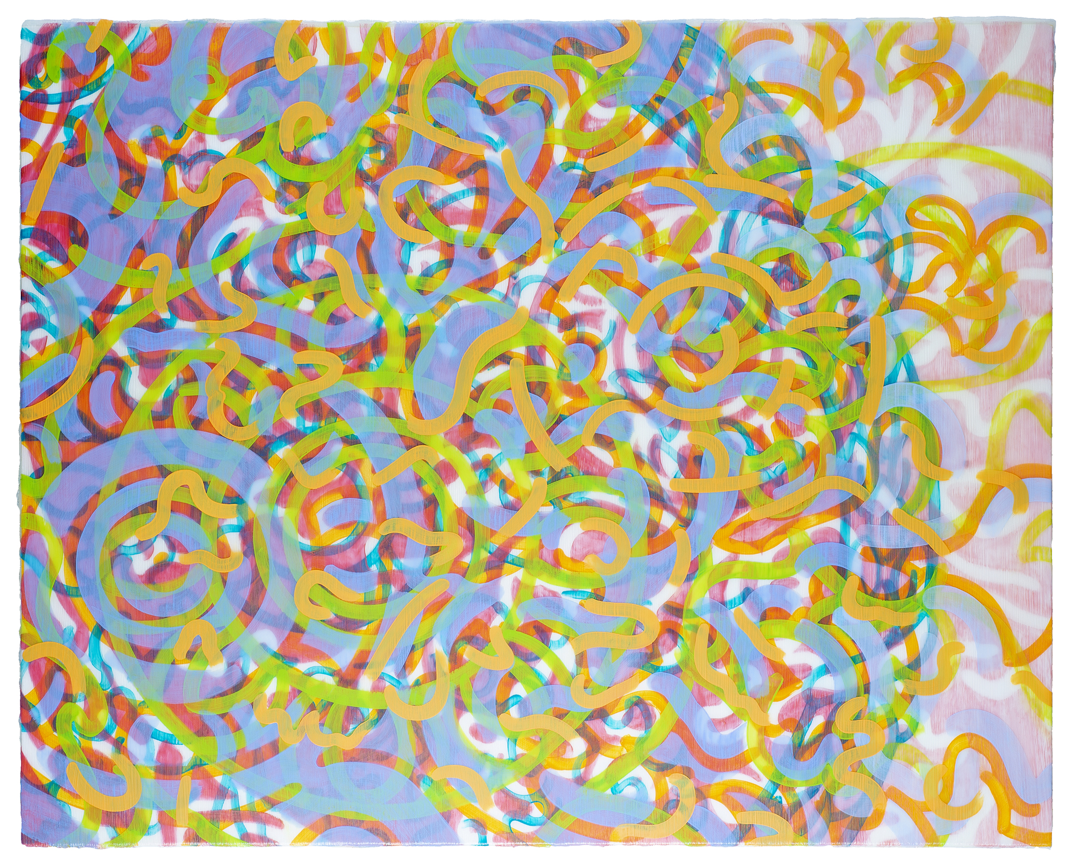 Full Circle VII (white) 2021 acrylic on canvas on board 40x50in
